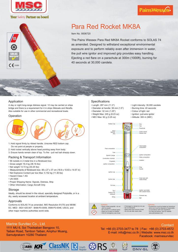 Datasheet 9506720 Para Red Rocket Mk8a Msc